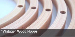 Vintage Wood Hoops