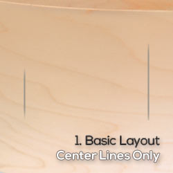 basic layout with center lines only