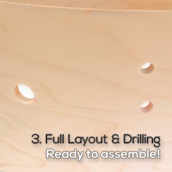 full layout with drilling