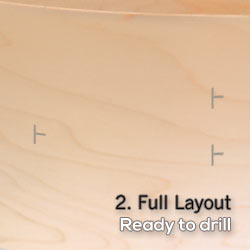 full layout no drilling