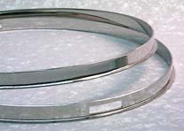 Vintage Style Single Flanged Hoop Chrome -16 in