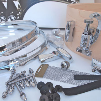 DIY Snare Kit - 5x14 Raw 8ply Maple 38pc WE Drill It