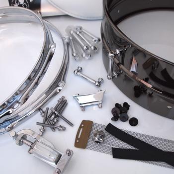 DIY Snare Kit - 5x14 Black Brass Metal Shell 38pc  WE Drill It