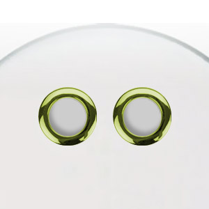 Os 2 in BD hole reinforcement BRASS color 2 pack pair